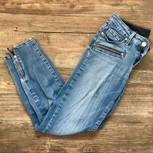 Paige Ankle Jeans with Zipper Detail